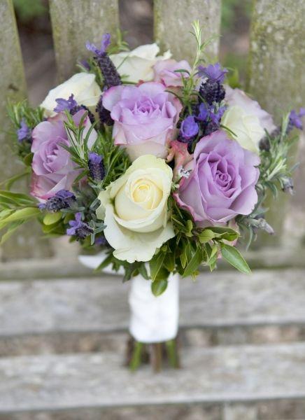 Bride's lavender rose bouquet