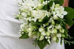Bride's bouquet - white roses, lily of the valley
