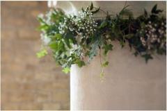 Church pillar foliage garland