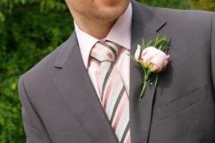 Groom's buttonhole - pink peony