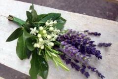 Lavender wedding buttonholes