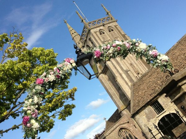 Colerne Church flower arch