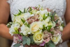 Bridal bouquet - roses, hydrangea, lily of the valley - Courtney Louise image credit