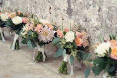 Bride & Bridesmaid bouquets - Cafe au Lait Dahlia & Roses - Kate Hopewell-Smith image credit