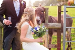 Bride's country wedding flower bouquet
