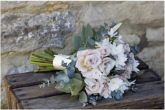 Bridesmaid's bouquet - roses, narcissi, foliage