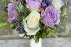 Bride's lavender, rose & herb bouquet
