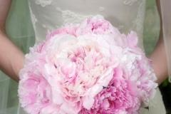 Bride's bouquet - pink peonies