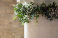 Church pillar foliage garland
