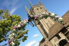 Colerne Church flower arch