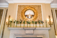Mantelpiece wedding flowers - Courtney Louise image