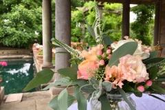 Registrar table wedding flowers
