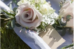 Rose wedding buttonholes