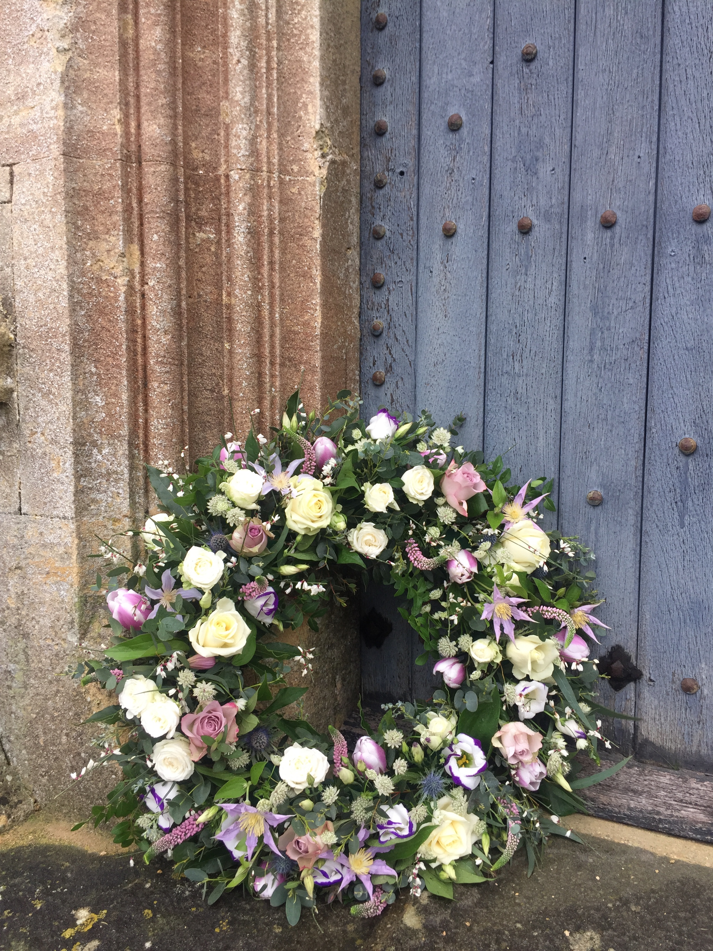 Funeral flowers - mixed wreath