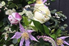 Funeral Wreath - mixed flowers, roses & clematis